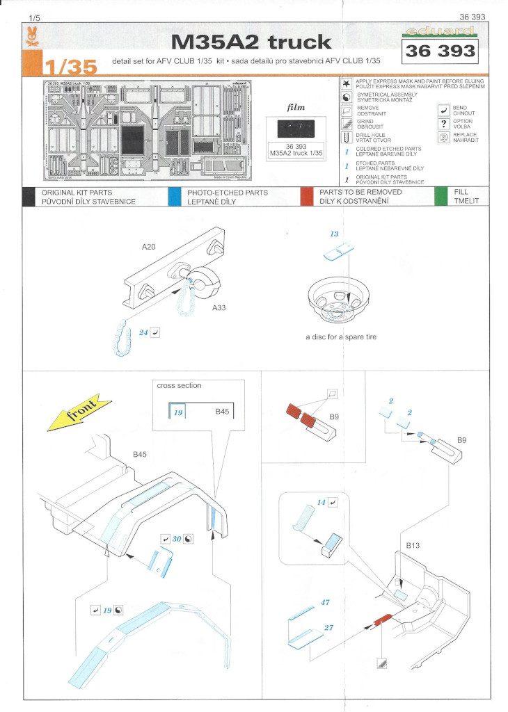 Anleitung1-730x1024 M35A2 Truck for AFV Club Kit Eduard 1:35 (#36393)