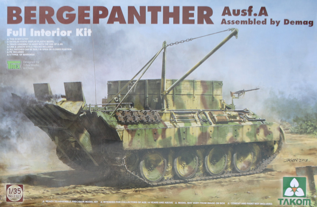 Box-1 Bergepanther Ausf. A Assembled by Demag 1:35 Takom (#2101)