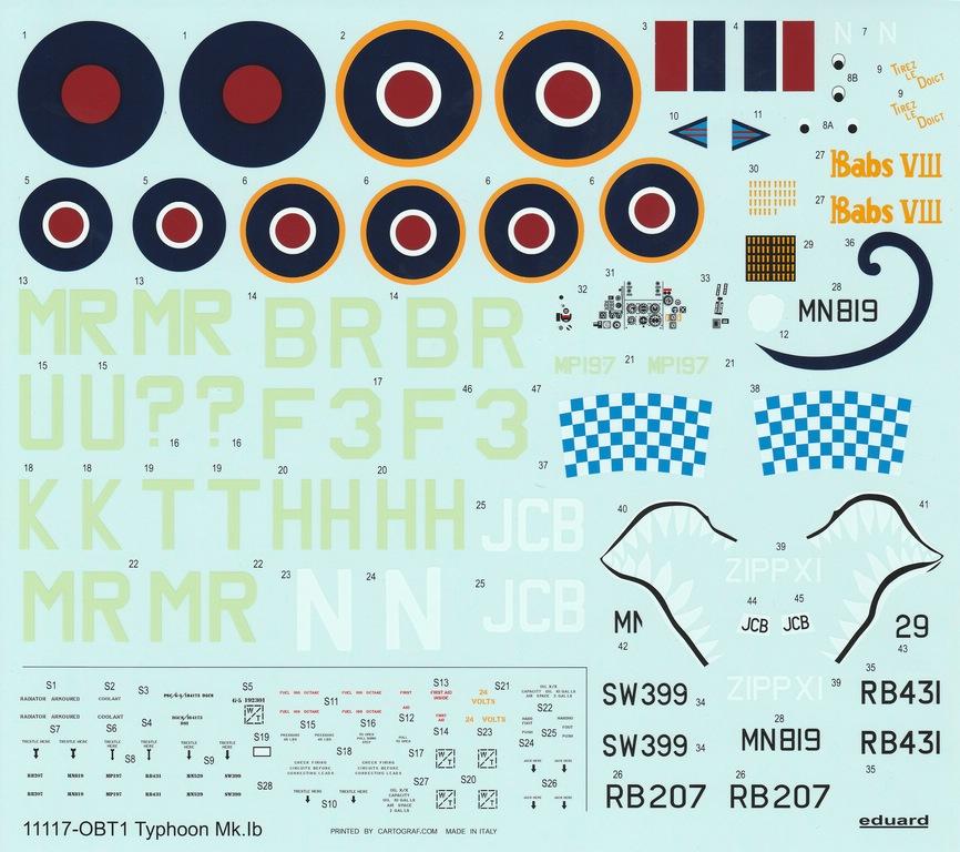 Eduard-11117-Typhoon-Mk.Ib-Limited-Edition-17 Typhoon Mk.Ib im Maßstab 1:48 Limited Edition von Eduard 11117