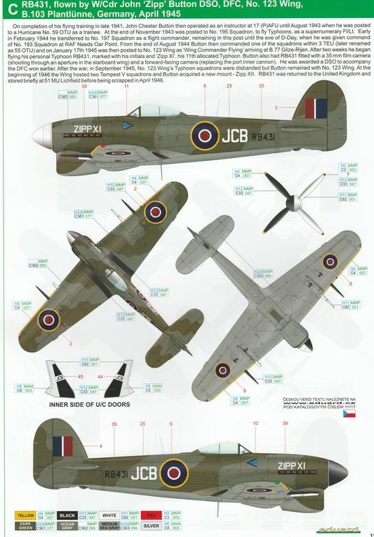 Eduard-11117-Typhoon-Mk.Ib-Limited-Edition-20 Typhoon Mk.Ib im Maßstab 1:48 Limited Edition von Eduard 11117