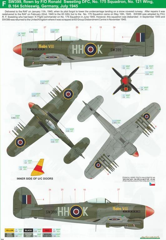 Eduard-11117-Typhoon-Mk.Ib-Limited-Edition-23 Typhoon Mk.Ib im Maßstab 1:48 Limited Edition von Eduard 11117