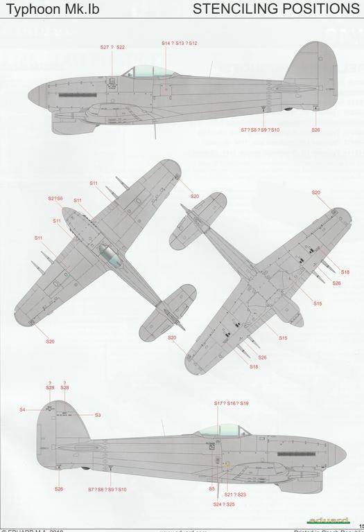 Eduard-11117-Typhoon-Mk.Ib-Limited-Edition-24 Typhoon Mk.Ib im Maßstab 1:48 Limited Edition von Eduard 11117