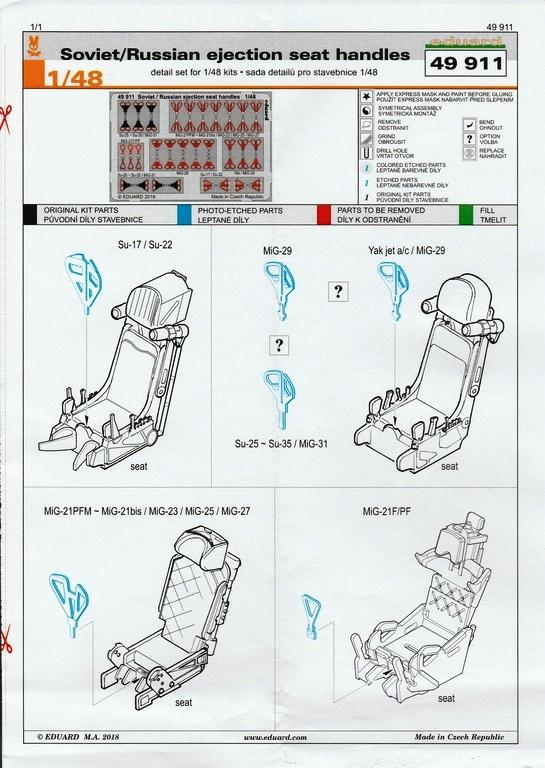 Eduard-49911-Soviet-Russian-Ejection-Seat-Handles-2 Soviet / Russian Ejection Seat Handles im Maßstab 1:48 Eduard 49911