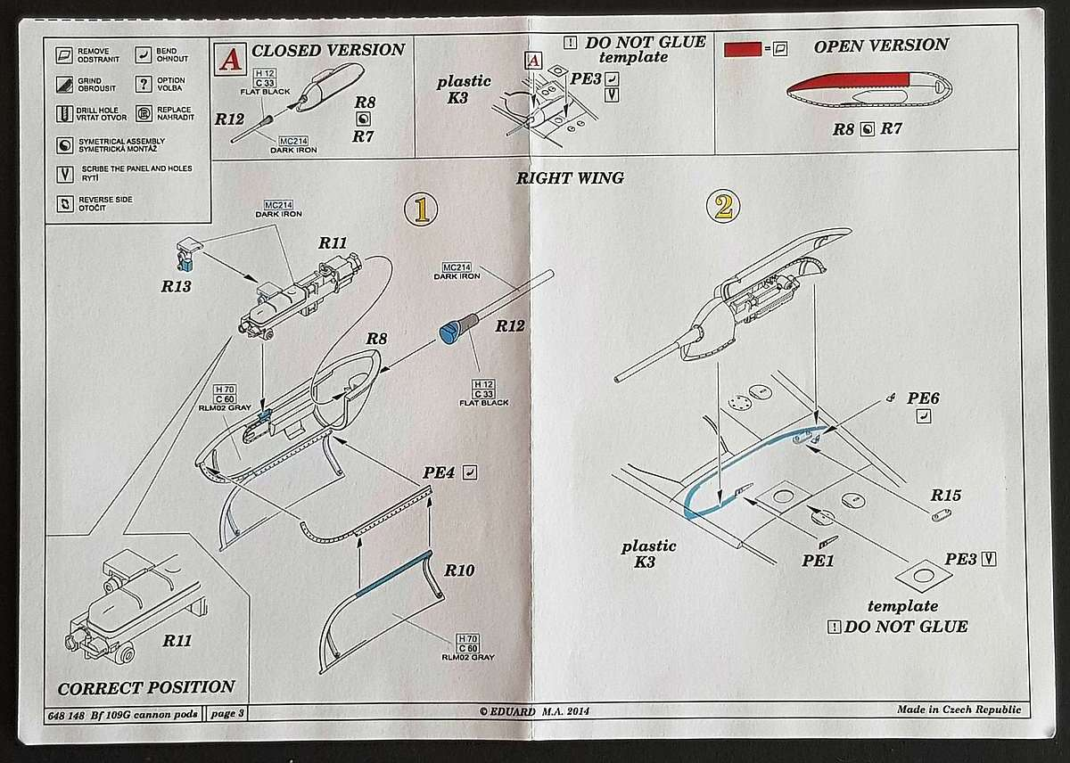 Eduard-648148-Bf-109G-Cannon-Pods-5 Bf 109G Cannon pods im Maßstab 1:48 von Eduard 648148
