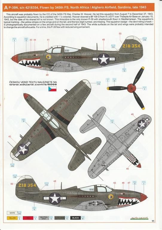 Eduard-8066-Bell-P-39-Airacobra-15 Bell P-39 L/N Airacobra im Maßstab 1:48 von Eduard PROFIPACK 8066