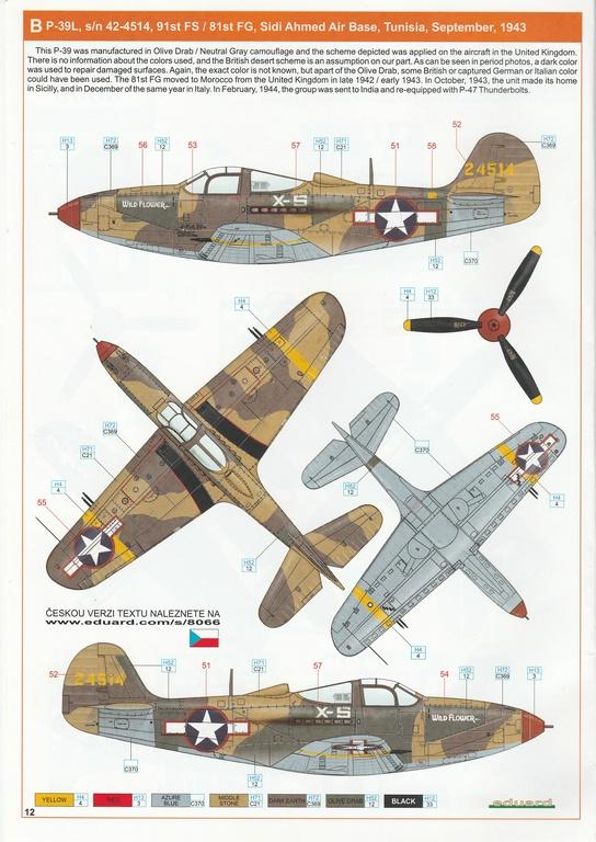 Eduard-8066-Bell-P-39-Airacobra-16 Bell P-39 L/N Airacobra im Maßstab 1:48 von Eduard PROFIPACK 8066