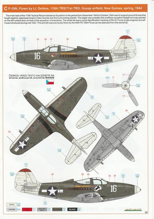 Eduard-8066-Bell-P-39-Airacobra-17 Bell P-39 L/N Airacobra im Maßstab 1:48 von Eduard PROFIPACK 8066