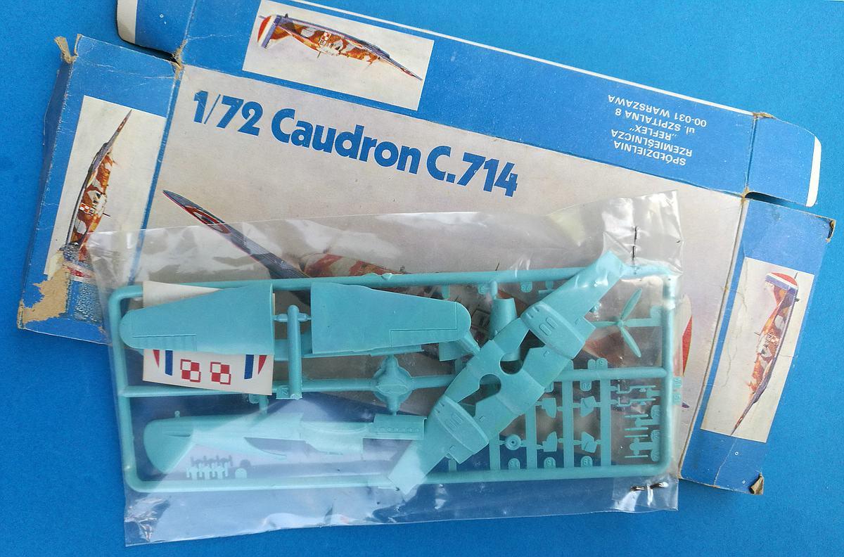 Heller-218-Caudron-C-15 Kit-Archäologie: Caudron C.714 im Maßstab 1:72 von Heller
