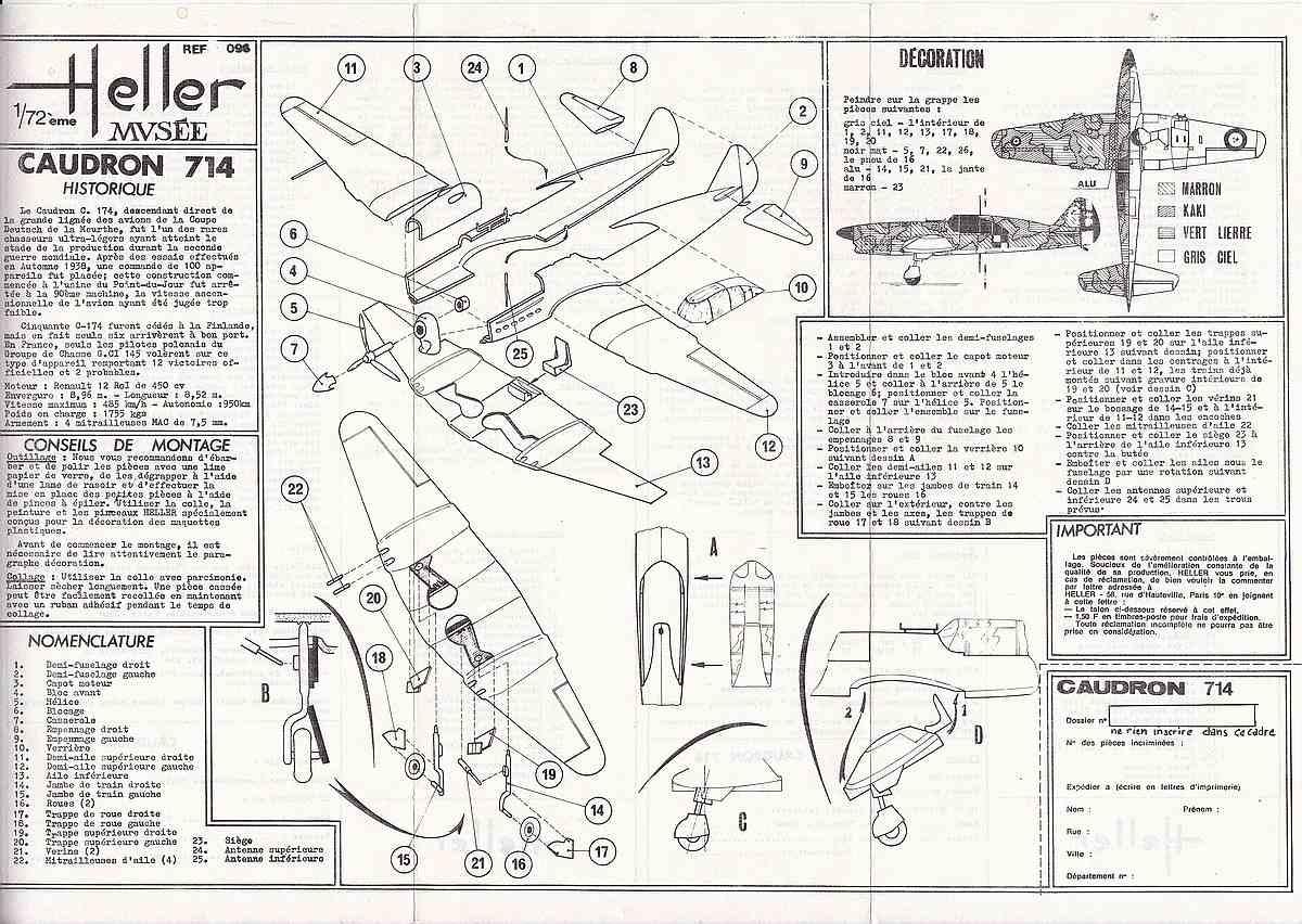 Heller-218-Caudron-C-16 Kit-Archäologie: Caudron C.714 im Maßstab 1:72 von Heller