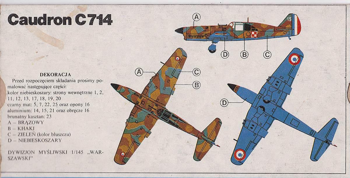 Heller-218-Caudron-C-19 Kit-Archäologie: Caudron C.714 im Maßstab 1:72 von Heller