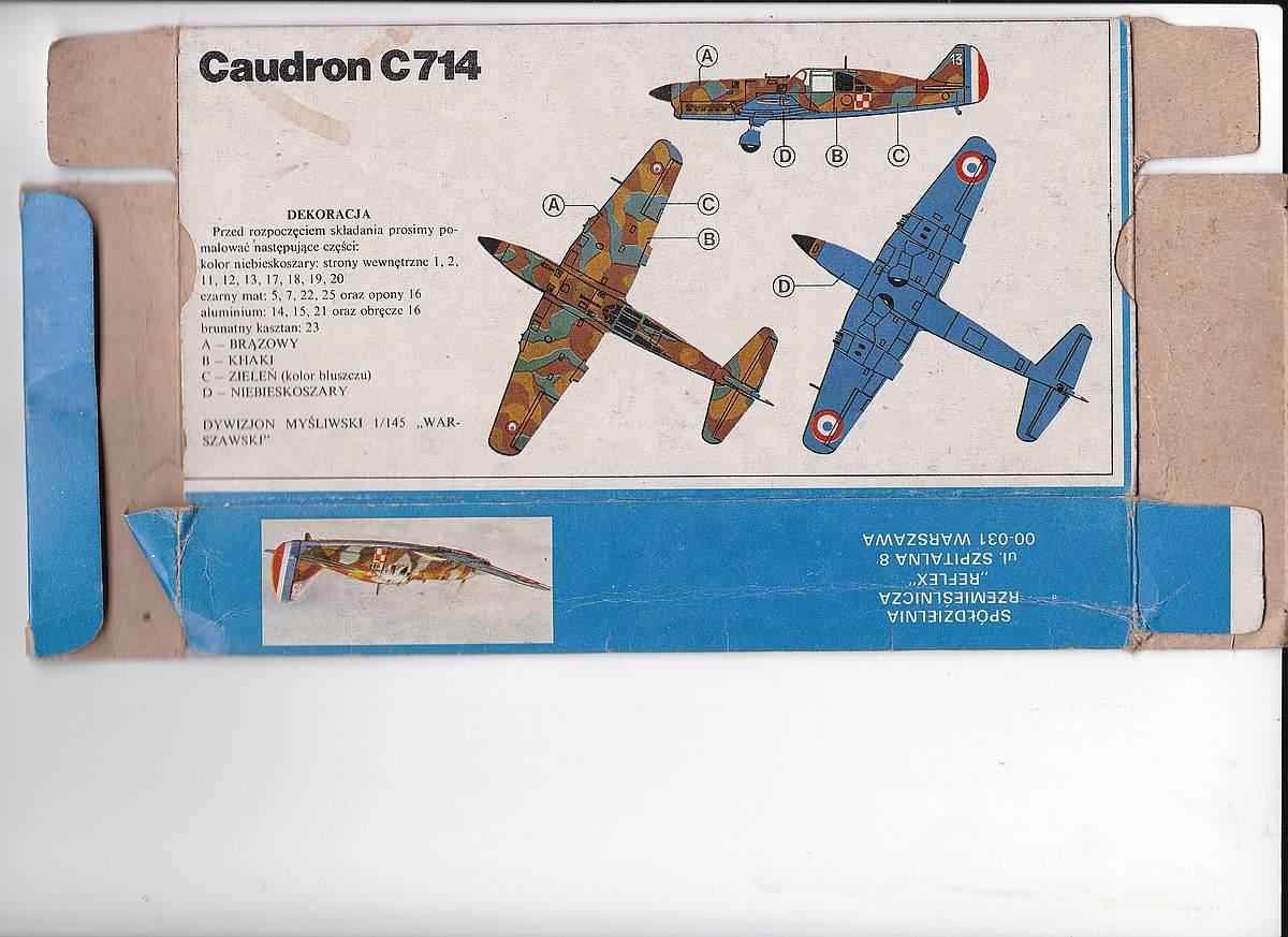 Heller-218-Caudron-C-20 Kit-Archäologie: Caudron C.714 im Maßstab 1:72 von Heller