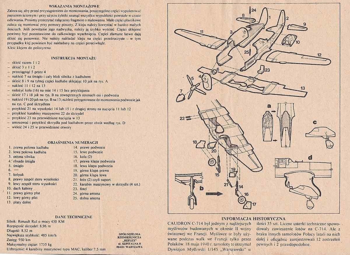 Heller-218-Caudron-C-21 Kit-Archäologie: Caudron C.714 im Maßstab 1:72 von Heller