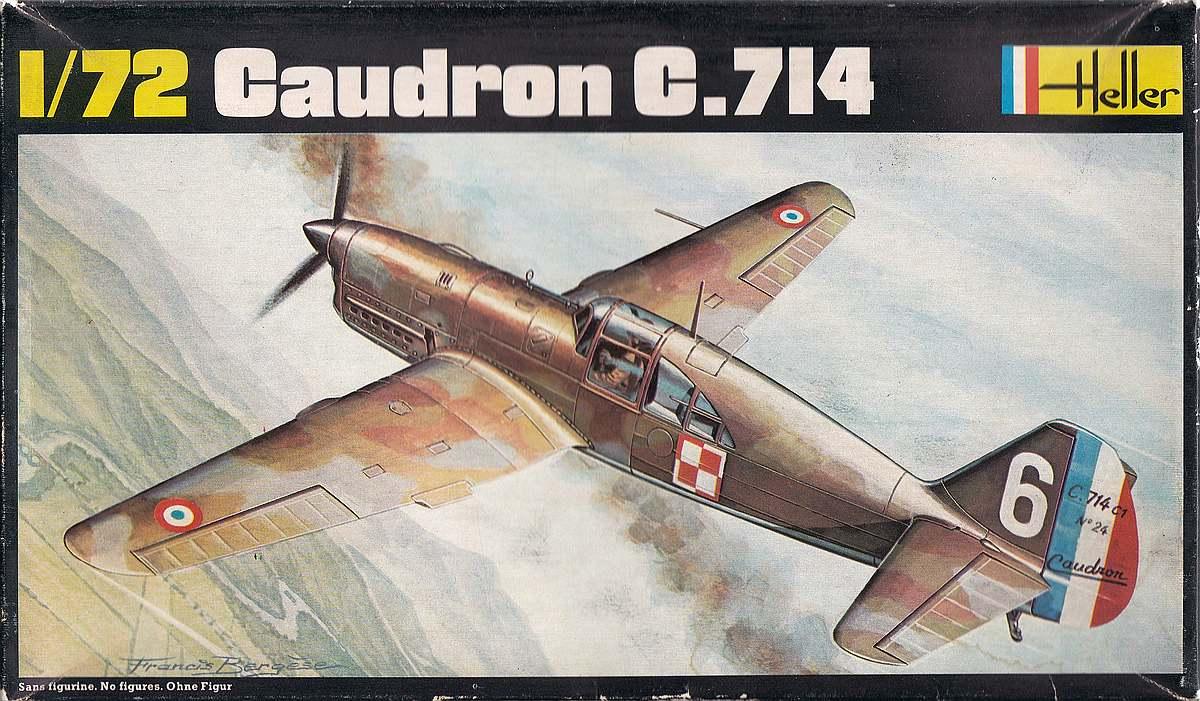 Heller-218-Caudron-C-23 Kit-Archäologie: Caudron C.714 im Maßstab 1:72 von Heller