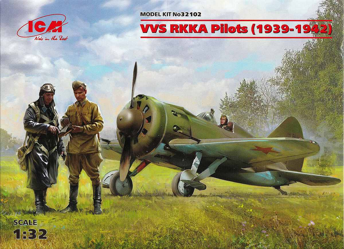ICM-32102-VVS-RKKA-Pilots-1939-42-1 VVS RKKA Pilots 1939-1942 im Maßstab 1:32 von ICM 32102