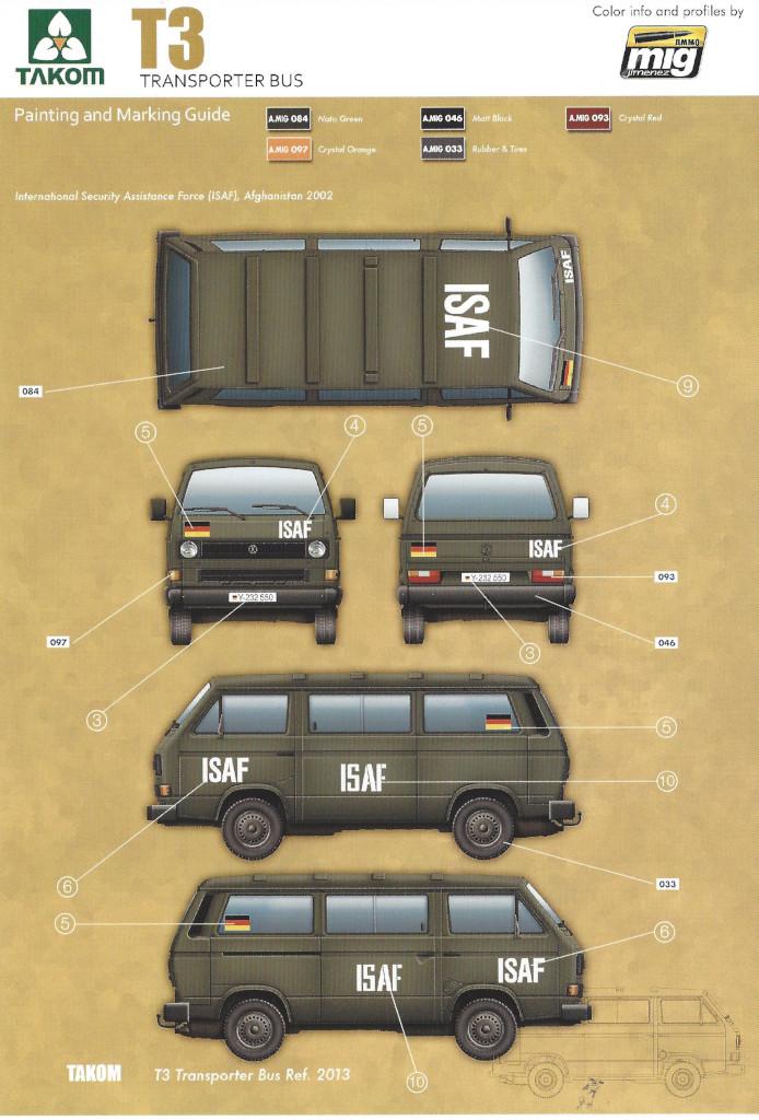 Markierungsvarianten1 T3 Transporter Bus Takom 1:35 (#2013)