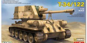 Vorschau auf den neuen T-34/122 im Maßstab 1:35 von Rye Field Miniatures RFM