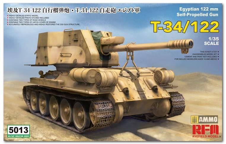 RyeFieldModel-T-34-122-Preview-1 Vorschau auf den neuen T-34/122 im Maßstab 1:35 von Rye Field Miniatures RFM