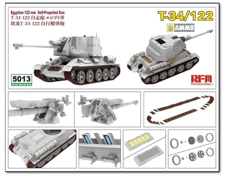 RyeFieldModel-T-34-122-Preview-3 Vorschau auf den neuen T-34/122 im Maßstab 1:35 von Rye Field Miniatures RFM