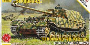 Panzerjäger Ferdinand im Maßstab 1:72 von Zvezda 5401