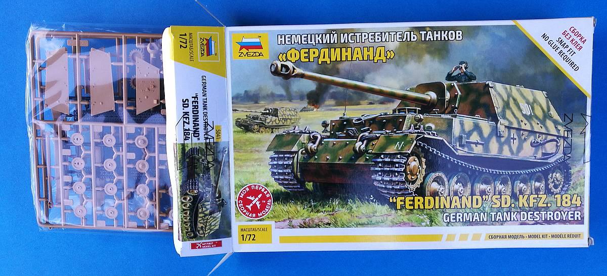 Zvezda-5401-German-Tank-Destroyer-Ferdinand-21 Panzerjäger Ferdinand im Maßstab 1:72 von Zvezda 5401