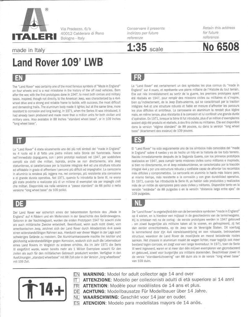 Anleitung-01-801x1024 Land Rover 109' LWB 1:35 Italeri (#6508)