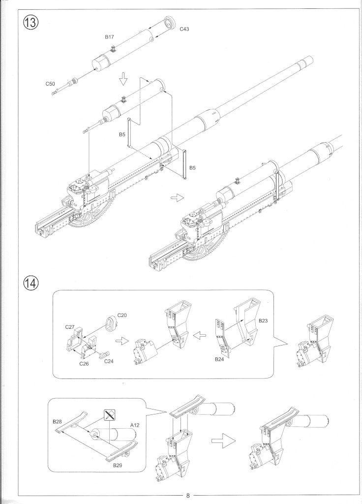 Anleitung10-1-736x1024 12.8cm Flak 40 & FuMG 39D 1:35 Amusing Hobby (#35A020)