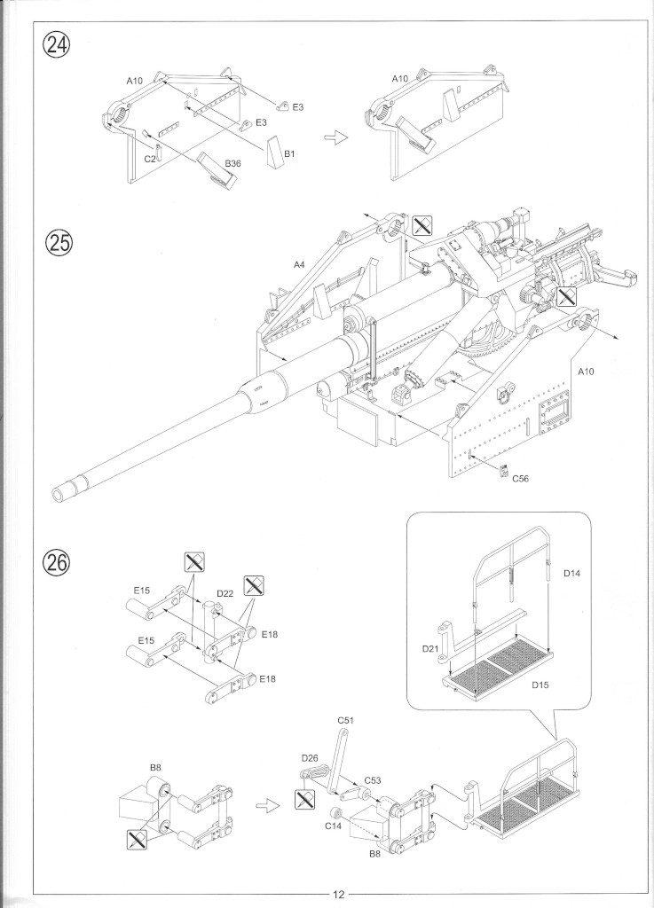 Anleitung14-737x1024 12.8cm Flak 40 & FuMG 39D 1:35 Amusing Hobby (#35A020)