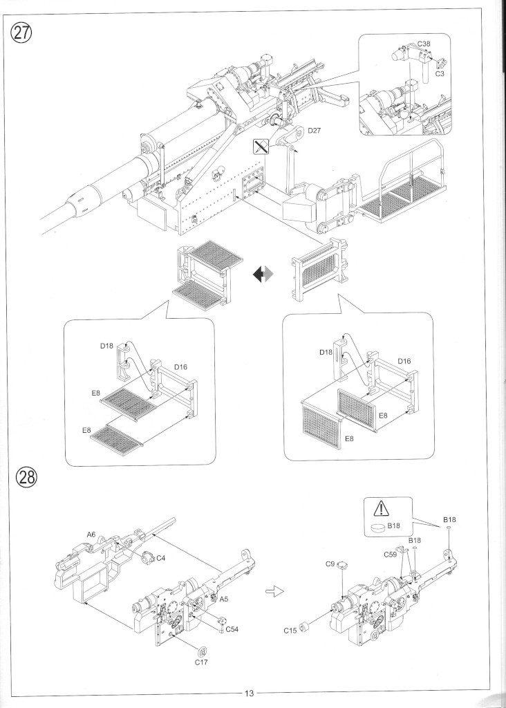 Anleitung15-732x1024 12.8cm Flak 40 & FuMG 39D 1:35 Amusing Hobby (#35A020)