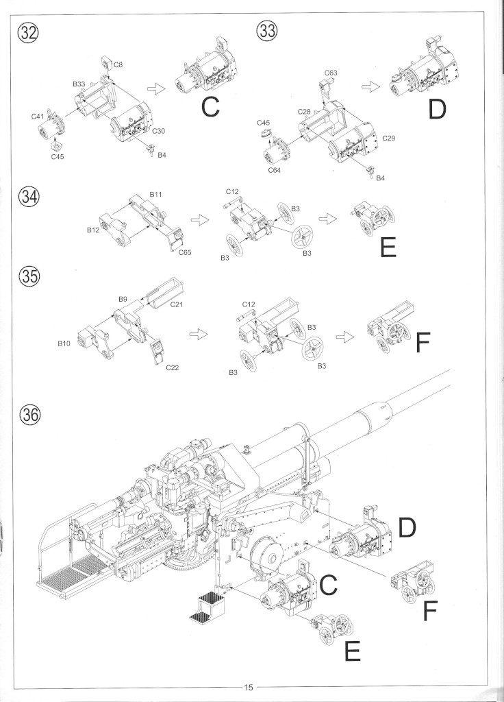 Anleitung17-736x1024 12.8cm Flak 40 & FuMG 39D 1:35 Amusing Hobby (#35A020)
