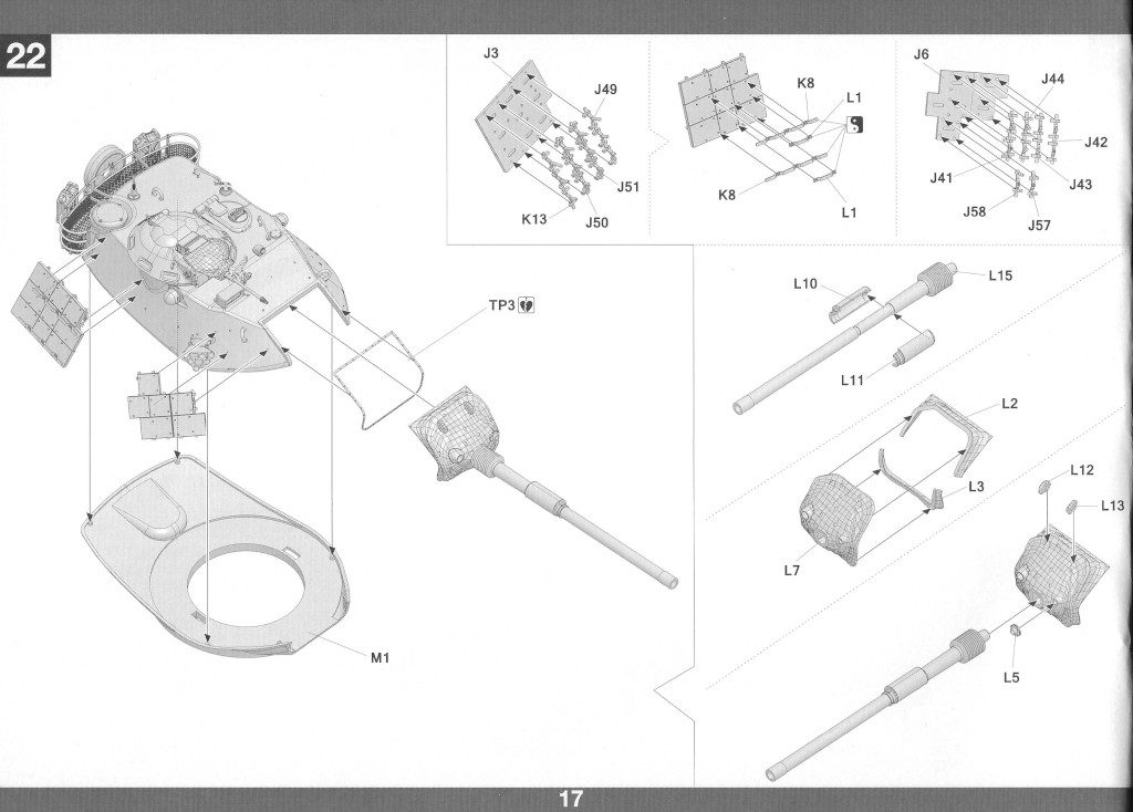 Anleitung18-1-1024x734 M60A1 w/Explosive Reactive Armor 1:35 Takom (2113)