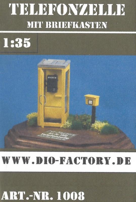 Box-4 Telefonzelle mit Briefkasten 1:35 Dio Factory (#1008)