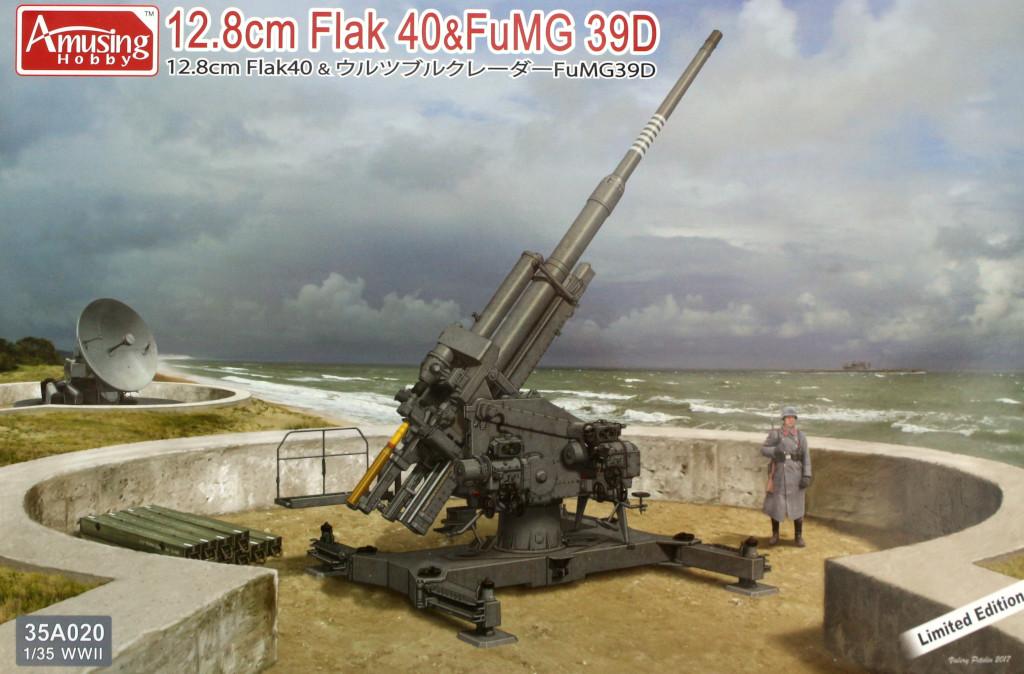Boxart 12.8cm Flak 40 & FuMG 39D 1:35 Amusing Hobby (#35A020)