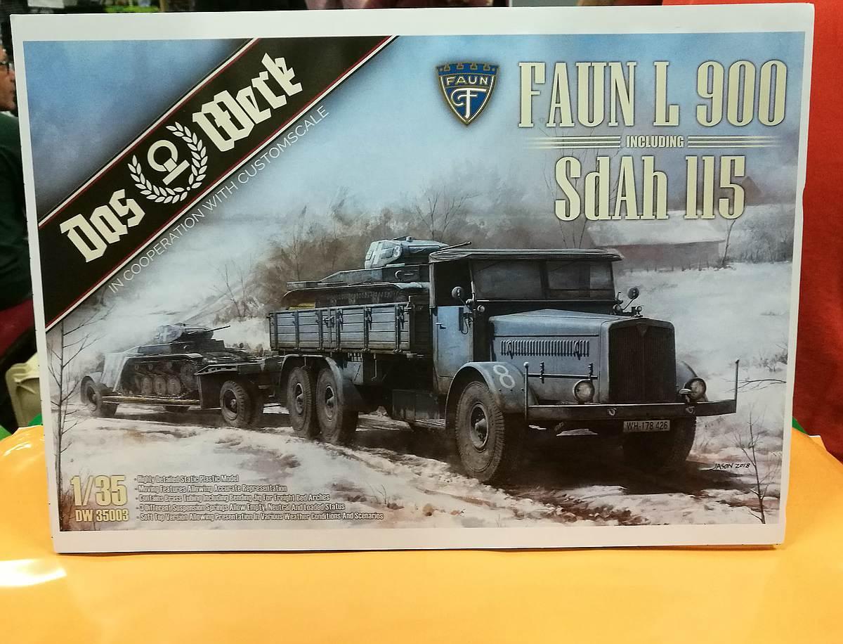 Das-Werk-Faun-L-900Panzertransporter-9 Panzertransporter Faun L 900 mit Sd.Anh. 115 im Maßstab 1:35 von Das Werk DW 35003