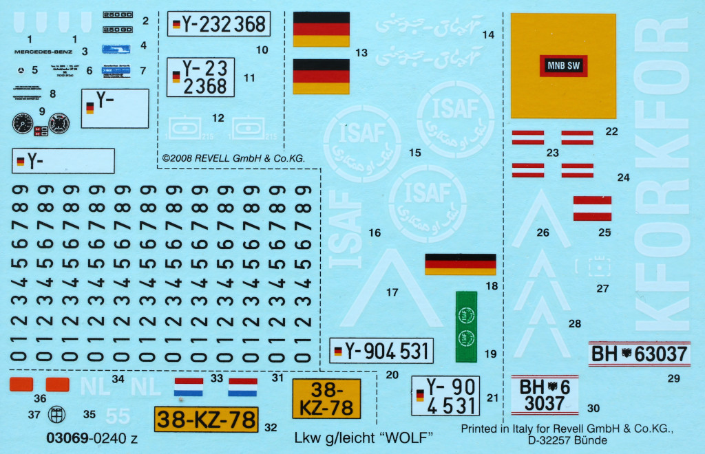 Decals LKW 0,5t Wolf 1:35 MBK Models (#35069)