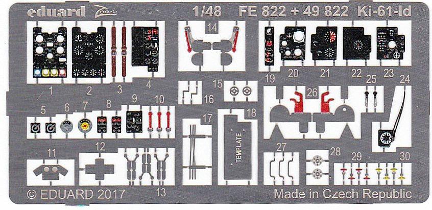 Eduard-49822-Ki-61-Id-2 BigEd-Set für die Kawasaki Ki-61-Id im Maßstab 1:48 von Tamiya BIG 49174