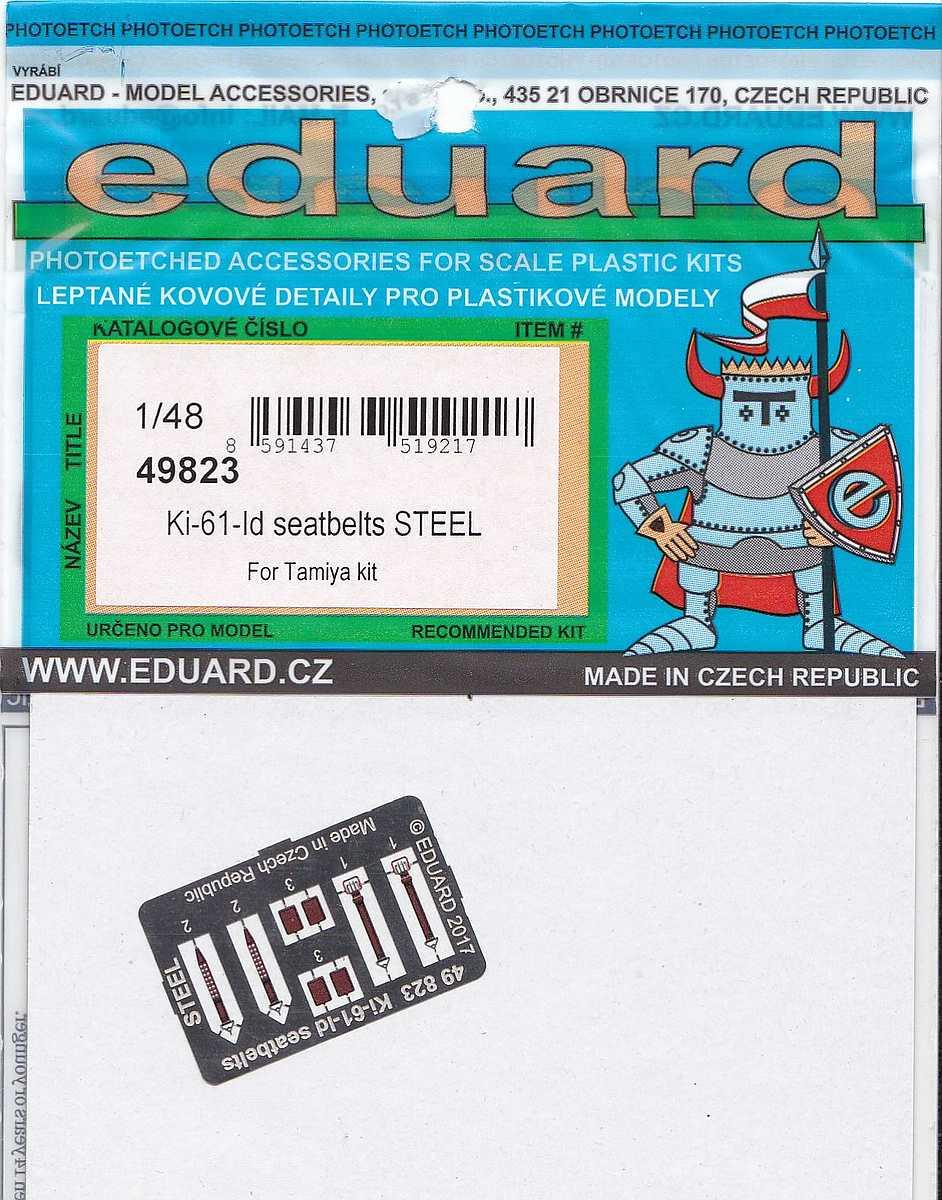 Eduard-49823-Ki-61-Id-seatbelts-STEEL BigEd-Set für die Kawasaki Ki-61-Id im Maßstab 1:48 von Tamiya BIG 49174
