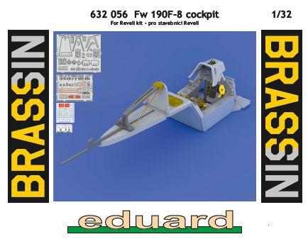 Eduard-632056-FW-190-F-8-BRASSIN BRASSIN Cockpitset für die FW 190 F-8 von Revell  (Eduard 632056 )