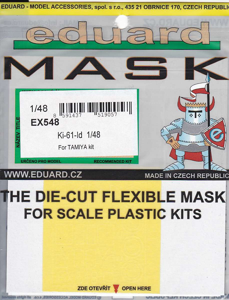 Eduard-EX-548-Ki-61-Id-Masken-1 BigEd-Set für die Kawasaki Ki-61-Id im Maßstab 1:48 von Tamiya BIG 49174