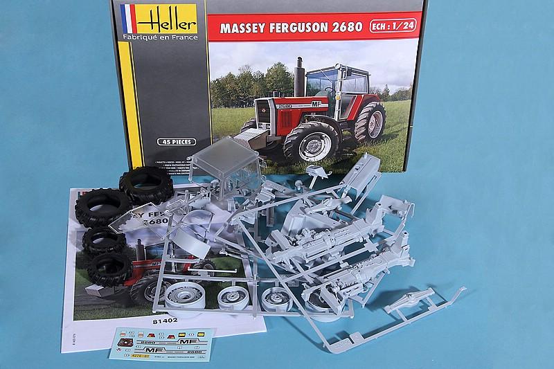 Heller-81402-Massey-Ferguson-2680-10 Massey Ferguson im Maßstab 1/24 von Heller 2680
