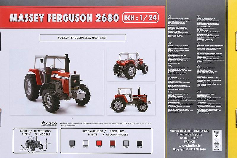 Heller-81402-Massey-Ferguson-2680-2 Massey Ferguson im Maßstab 1/24 von Heller 2680