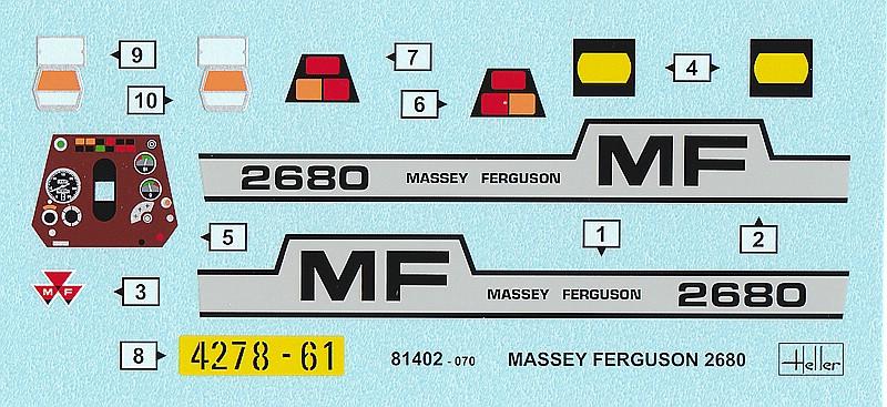 Heller-81402-Massey-Ferguson-2680-8 Massey Ferguson im Maßstab 1/24 von Heller 2680