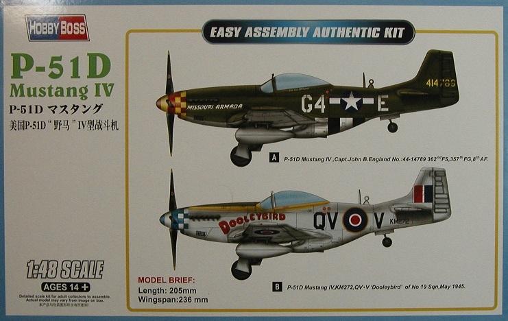 HobbyBoss-85802-P-51D-15 P-51D Mustang IV im Maßstab 1:48 von HobbyBoss 85802