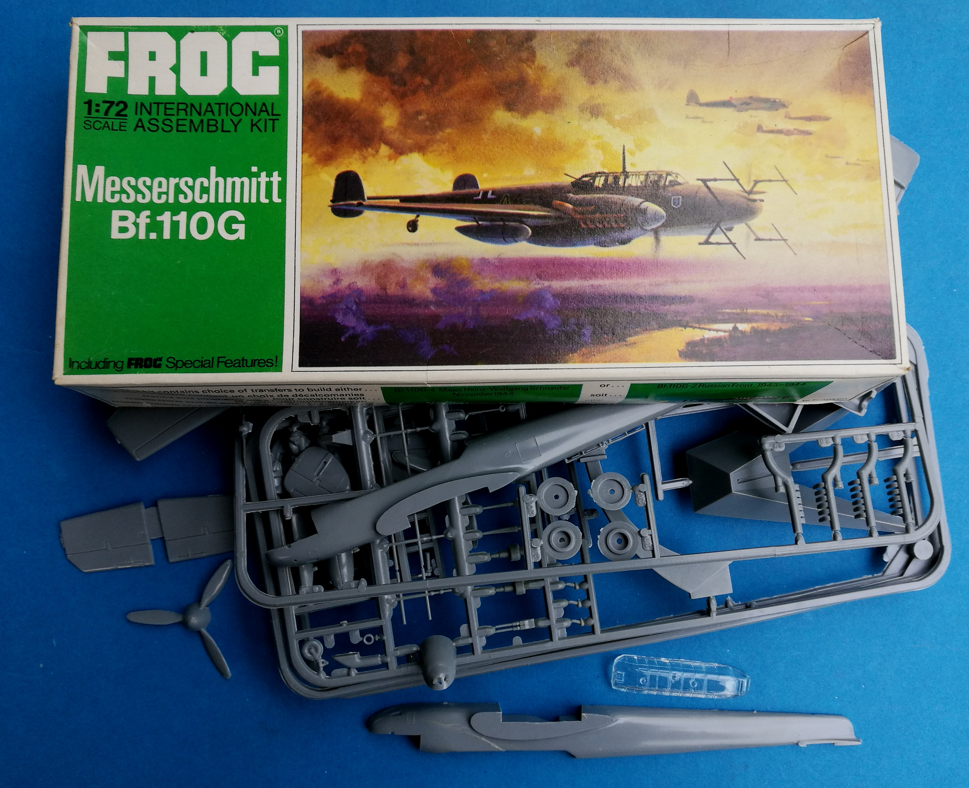 IMG_20181004_174557 Kit-Archäologie - heute: Messerschmitt Bf 110 G-4 im Maßstab 1:72 von Revell H-95