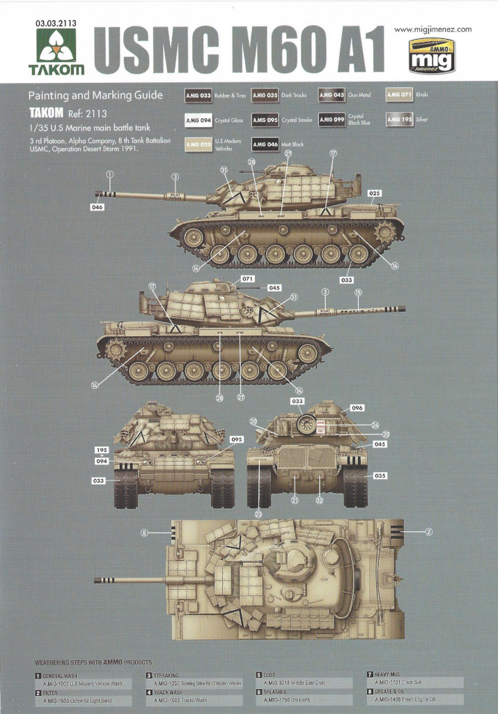 MV1 M60A1 w/Explosive Reactive Armor 1:35 Takom (2113)