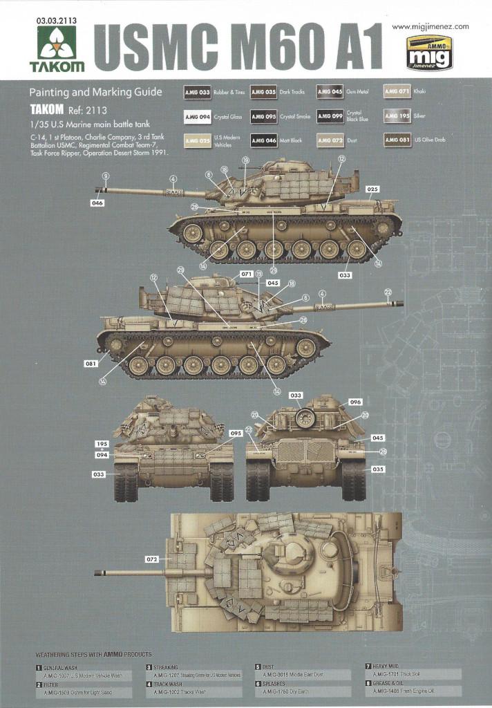 MV2 M60A1 w/Explosive Reactive Armor 1:35 Takom (2113)