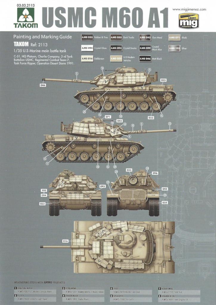 MV3 M60A1 w/Explosive Reactive Armor 1:35 Takom (2113)