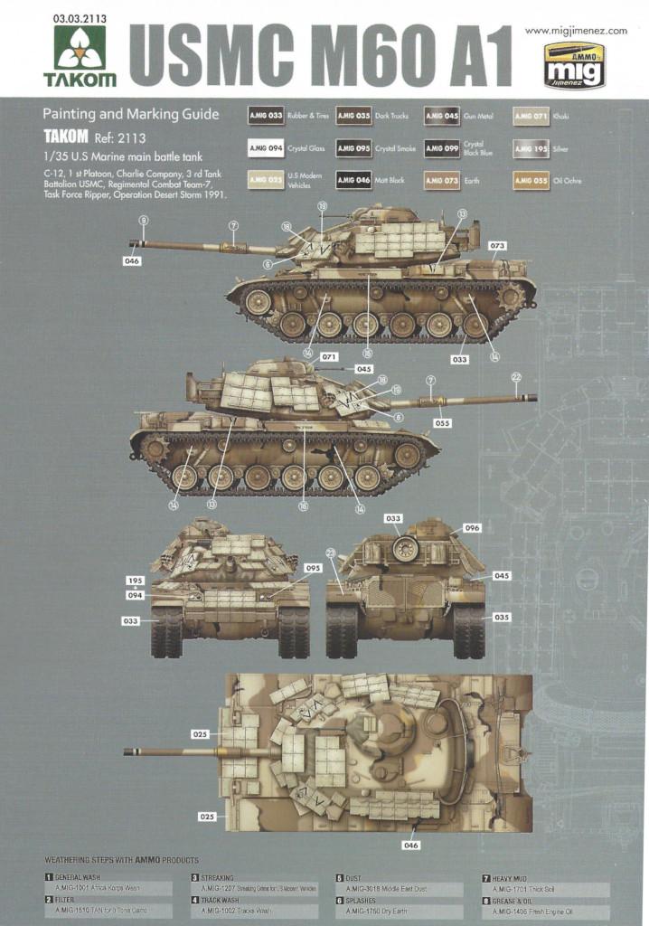 MV4 M60A1 w/Explosive Reactive Armor 1:35 Takom (2113)