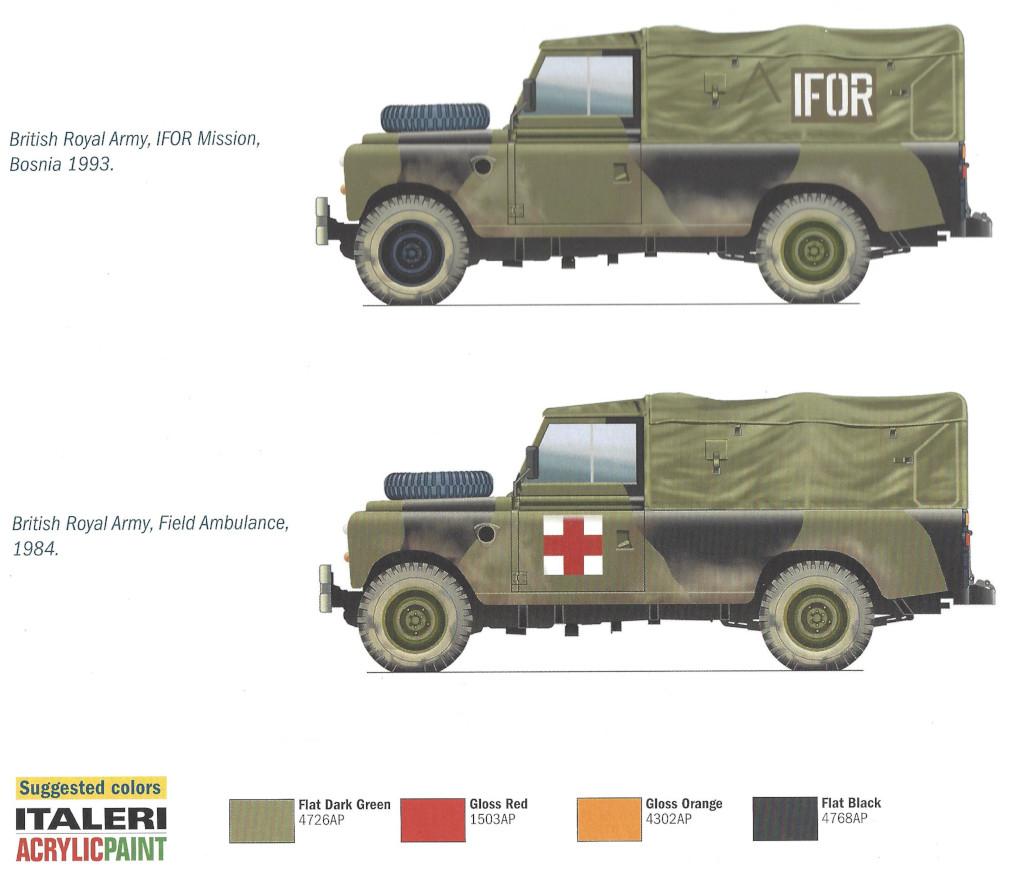 Markierungsvarianten Land Rover 109' LWB 1:35 Italeri (#6508)