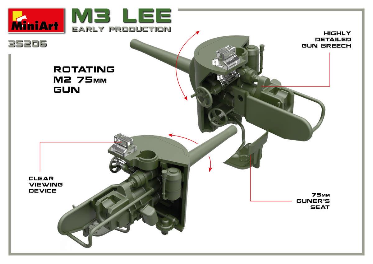 MiniArt-35206-M3-Lee-Preview-3 Vorschau auf den neuen M3 Lee von MiniArt im Maßstab 1:35