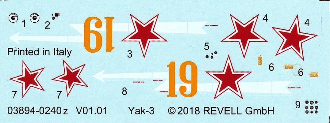 Revell-03894-Jak-3-18 Yakovlev Yak-3 (Jak-3) im Maßstab 1:72 von Revell 03894
